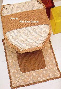 Crochet bathroom set ♥LCB-MRS♥ with diagram