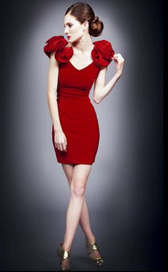 red dresses to wear on valentines day -