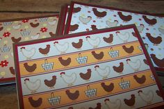 Country Notecards. Chicken Theme Boxed by 1OfAKindCrafts on Etsy