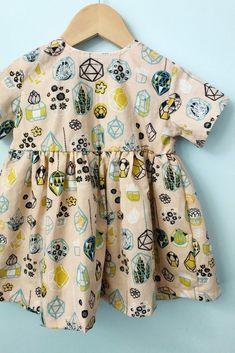 Handmade Organic Cotton Summer Succulent Dress | GeorgieByNicoleAnn on Etsy