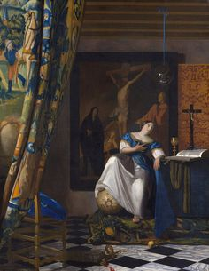 Vermeer The Allegory of the Faith - Allégorie de la Foi , 1670-1675
