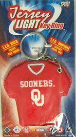Oklahoma Sooners Keychain - Jersey Keylight