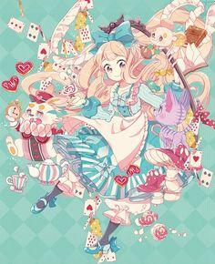 Wakanagi Eku, Alice in Wonderland, Cheshire Cat, White Rabbit, Dormouse