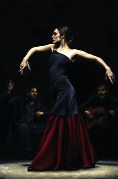 I swear I can hear classic Pasodoble music, looking at this gorgeous picture. Look at her posture!