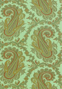 Mint Paisley Wallpaper Pattern   Green Tea Background   Collection Anniversary from Thibaut