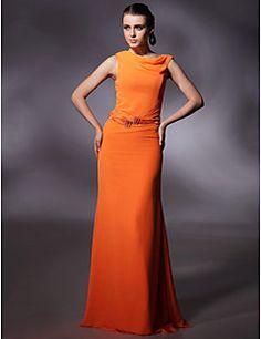 Chiffon Sheath/ Column Jewel Floor-length Evening/Prom Dress... – USD $ 79.99