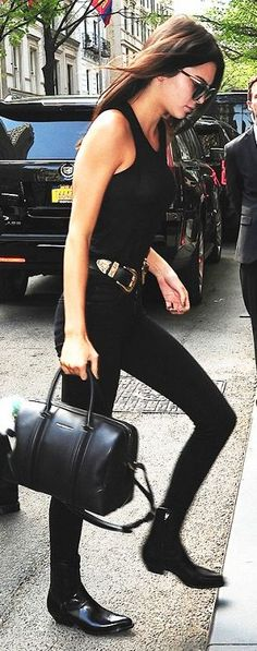 Everything Black Kendall Jenner Outfit