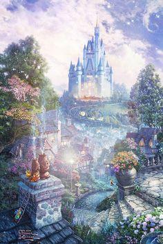 33 ideas for disney art cinderella thomas kinkade Draw Disney, Cute Disney, Disney Drawings, Disney Art, Disney Pixar, Disney Castle Drawing, Walt Disney, Thomas Kinkade Disney, Thomas Kinkade Art