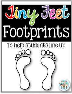 FREE feet/footprint templates for lining up from Clever Classroom