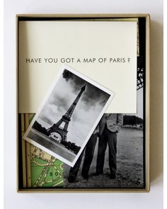 Jonathan Monk. Have you got a map of Paris?
