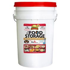 Augason Farms Emergency Food Storage All-In-One Pail contains enough food to provide 1,857 calories per day for 1 person for 30 days, or a family of 4 for a