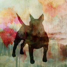 "Saatchi Art Artist eva christin laszka; Painting, ""Doglife"" #art"