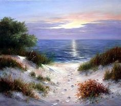 Dune in Evening - Oil Painting