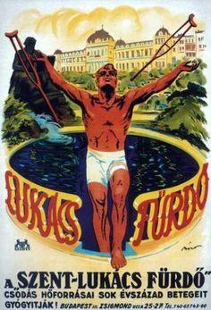 Szent Lukács fürdő reklámplakát nosztalgia poszter Retro Ads, Retro Vintage, Comic Books, Comics, Cover, Art, Art Background, Kunst, Cartoons