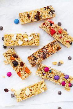 The Perfect Soft Granola Bars (Gluten Free and Vegan) Granola Bar Recipe Easy, Healthy Granola Bars, Chewy Granola Bars, Homemade Granola Bars, Healthy School Lunches, Healthy Snacks, Vegan Gluten Free Breakfast, Vegan Bar, 15 Minute Meals