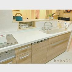 Kitchen Island, Kitchen Cabinets, Kitchen Design, Minimalist, Vanity, Bathroom, House, Kitchens, Home Decor