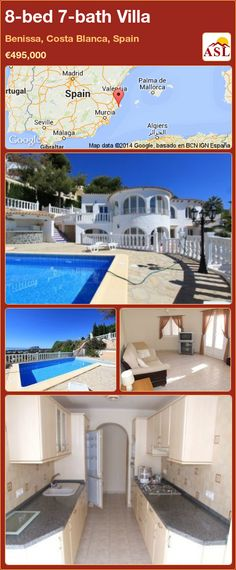 Villa for Sale in Benissa Coastal, Costa Blanca, Spain with 8 bedrooms, 7 bathrooms - A Spanish Life Maputo, Central Heating, Investment Property, Seville, Malaga, Kitchen Styling, Dining Area, Terrace, Madrid