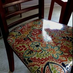 Chairs Recovered In Fabric AND Clear Vinyl Http://media Cache2.pinterest