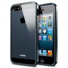 Funda iPhone 5 Spigen SGP Linear Metal Crystal Series - Metal Slate  AR$ 174,93