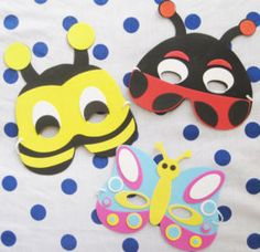 This would be cute for the kids to make!! masks x12 6.90 perfect for party bag fillers!