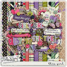 Digital Scrapbook Kit, This Girl by Bella Gypsy