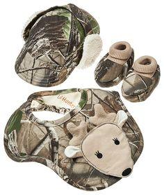 Natural Steps Lil' Hunter Gift Set for Infants - Realtree® Hardwoods HD® $29.99  #Realtreecamo