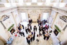 Clandon Park Wedding reception in the Marble Hall