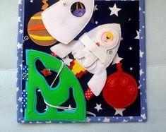 Quiet book, custom quiet book page, space book, baby book, busy book, felt book