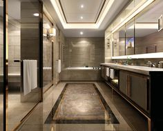 The gold setting off the rich looking tiles looks great THE SHANGRI-LA HOTEL, AT THE SHARD, LONDON | dtail™