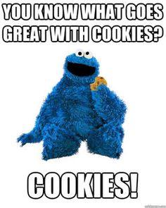 Image result for cookie monster meme