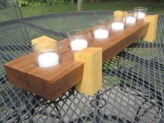 Modern Table Centerpiece - Walnut base with Maple legs Fresh Rose Face Mask, Wood Gifts, Modern Table, Table Centerpieces, Charity, Household, Base, Candles, Legs