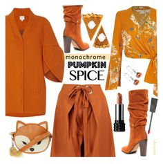 """""""Foxy Pumpkin Pie"""" by ultracake ❤ liked on Polyvore featuring Delpozo, Donald J Pliner, Boohoo, River Island, Burberry, fashiontrend, ultracake and pumpkinspice"""