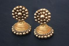 tutorial on How to make Gold Jhumkas