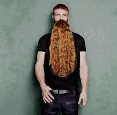 Man with non-existent beard.  It is an illusion.