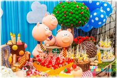 What a fun Three Little Pigs birthday party! See more party planning ideas at CatchMyParty.com!