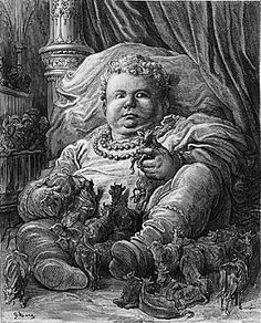 At 524 years old, Gargantua begot his son Pantagruel, also a giant, also educated in the same manner as his father. Description from hektoeninternational.org. I searched for this on bing.com/images