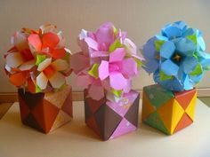 Origami flower tutorial