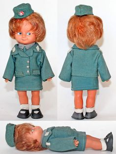 Vintage Rare German DDR Rubber Doll Аir-hostess Uniform 1970's  | eBay