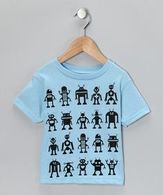 Take a look at this Blue Robot Attack Tee - Toddler & Boys by RaR Boys on #zulily today!