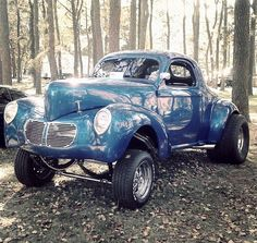 '40 Willys Gasser. Iconic. Legendary. Awesome in the true sense of the word. Fifties-Sixties Badass.