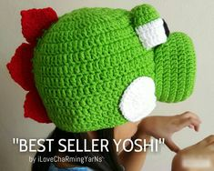 Check out this item in my Etsy shop https://www.etsy.com/listing/245822889/yoshi-nintendo-dinosaur-crochet-hat
