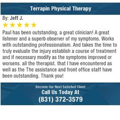 Paul has been outstanding, a great clinician! A great listener and a superb observer of my...