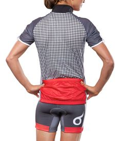 SOAS Cycling Jersey - Red Houndstooth