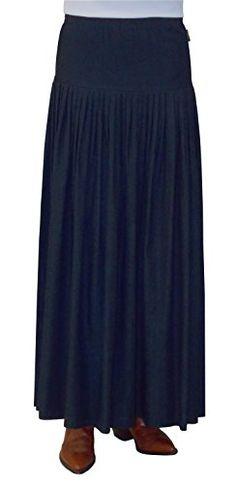 Baby'O Women's Original BIZ Style Ankle Length Long Denim Skirt (1X/XX-Large, Blue) -- Visit the image link more details.