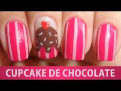 Unhas Decoradas - Cupcake de Chocolate - YouTube