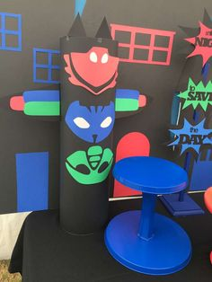 Brenda V's Birthday / PJ Masks - Photo Gallery at Catch My Party Birthday Pinata, Superhero Birthday Party, 4th Birthday Parties, Birthday Party Decorations, 3rd Birthday, Birthday Ideas, Pjmask Party, Party Ideas, Pj Masks Headquarters