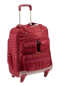 Lug Life Puddle Jumper Wheelie Suitcase In Cranberry Red Best Suitcases Carry On