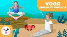 YOGA for Children - Aquatic Animals Yoga Poses - Yoga Practice Tutorial Yoga Poses For Back, Kids Yoga Poses, Yoga Poses For Beginners, Yoga For Kids, Learn Yoga, How To Start Yoga, Practice Yoga, Chico Yoga, Best Yoga Videos