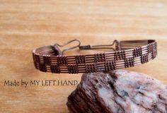 Mens Bracelet Wire Wrapped Men Copper Bracelet by MadeByMyLeftHand
