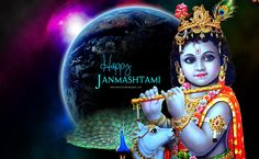 Celebrate the birth of Lord Krishna who enchants everyone with his playful mischiefs. Have a happy and blessed Krishna Janmashtami! Happy Janmashtami Image, Janmashtami Pictures, Janmashtami Wishes, Krishna Janmashtami, Shiva Wallpaper, Tree Wallpaper, Wallpaper Backgrounds, Krishna Photos, Krishna Images